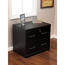 Z-Line Designs 2 Drawer Lateral File Cabinet, Black