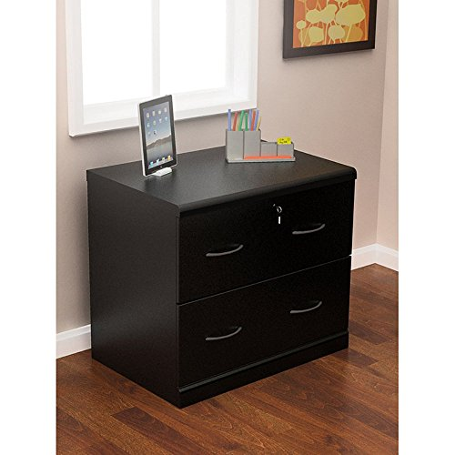 Z-Line Designs 2-Drawer Lateral File Cabinet, Black
