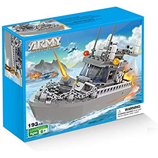 BRICK STORY Military Coast Guard Battleship Building Toy Navy Warship Boat Building Blocks for Kids Aged 6-12 231pcs