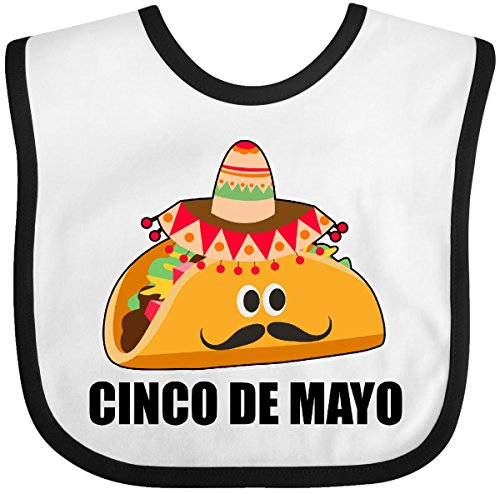 De Outfits Cinco Mayo (Inktastic - Cinco De Mayo With Taco with Eyes Mustache and Baby Bib)