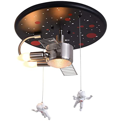 RUXMY Lámpara de Techo LED, Astronauta Europea Moderna de ...