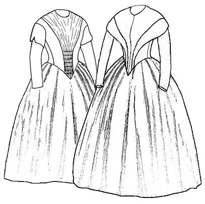 Victorian Sewing Patterns- Dress, Blouse, Hat, Coat, Mens 1845 German Day Dresses Patterns $17.45 AT vintagedancer.com
