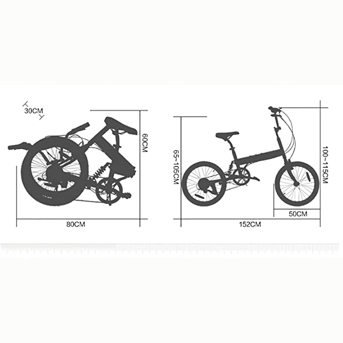 Amazon.com : 20-inch Folding bike Shock-absorbing Off-road Anti-tire Mountain bike Male and female adult lady bike-Black 152x115cm(60x45inch) : Sports & ...