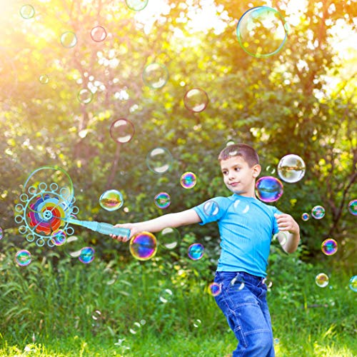 B bangcool Pinwheel Bubble Wand Set, Wind Spinner Bubble Blowing Toy Windmill Bubbles Maker for All Age Kids & Adults