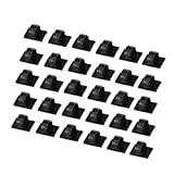 Cable Clips 30 PCS Self-adhesive Cable Ties Plastic Rectangle Cable Holder Wire Clip Cable Tidy Quickly Tie and Untie the Cord for Desks Tables Walls Filing Cabinets Furnitu