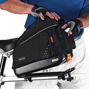 Ibera Bike Trunk Bag PakRak Clip On Quick Release Bicycle Commuter Bag