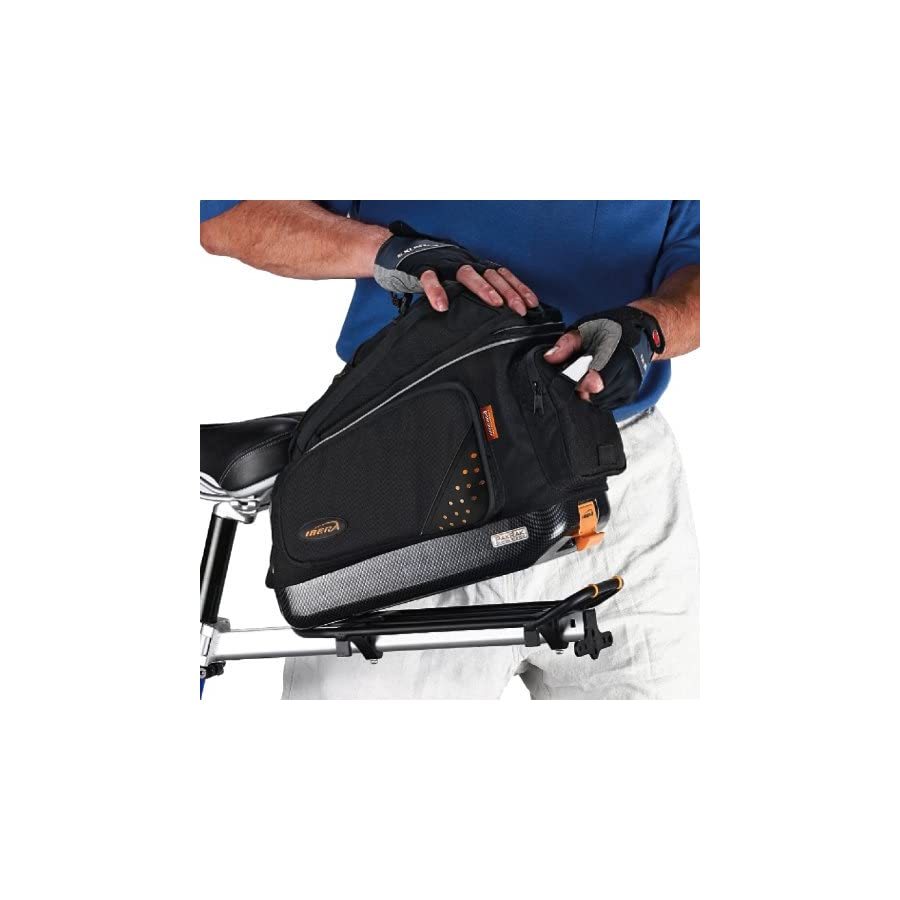 Ibera Bike Trunk Bag PakRak Clip On Quick Release Bicycle Commuter Bag (IB BA1)