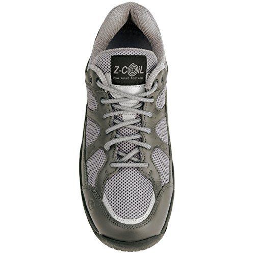 z coil s liberty slip resistant gray leather tennis