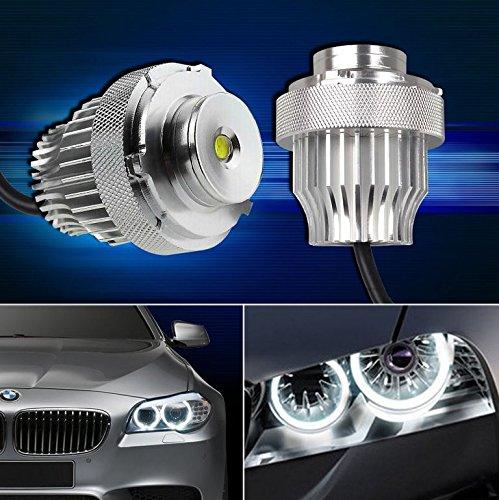 2x 10W CREE LED Angel Eye Marker Headlight Halo Ring Bulb with Decoder Error Free For E60 E61 5 Series LCI White 7000K 900LM