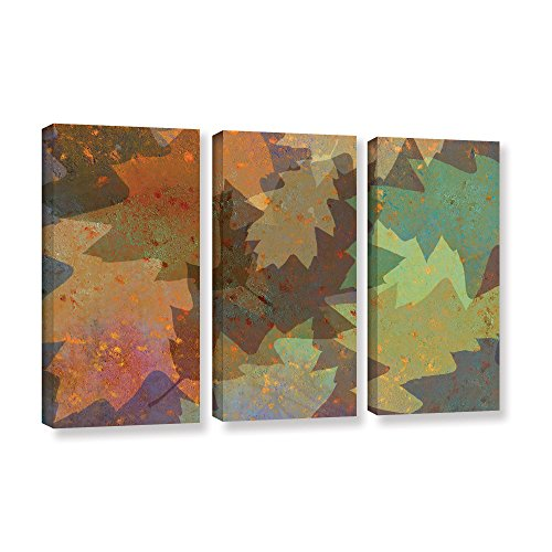 UPC 640823077966, ArtWall Cora Niele's American Oak Leaves 3 Piece Gallery Wrapped Canvas Set, 36 by 54""