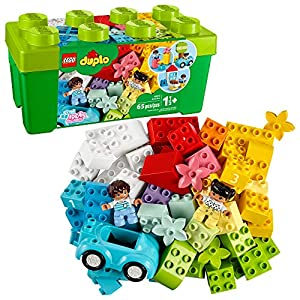 LEGO DUPLO Classic Brick Box 10913 First Set with Storage Box, Great Educational Toy for Toddlers 18 Months and up (65…