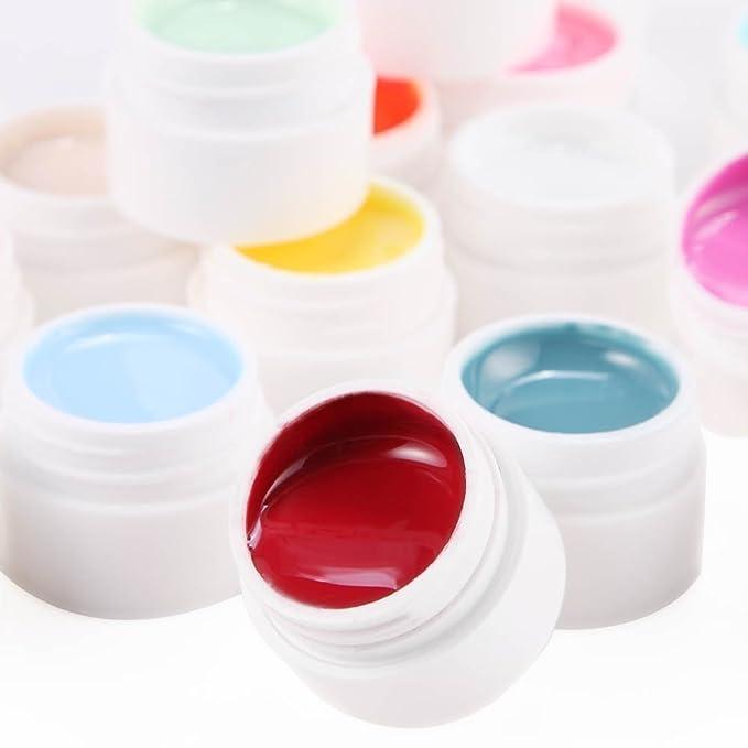 Lote de 20 colores Gel uv monofase para uñas gama falsos tip manicura batidos.: Amazon.es: Belleza