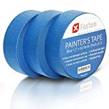 XFasten Professional Blue Painters Tape, 1.5''x 60Yds (Pack of 3)