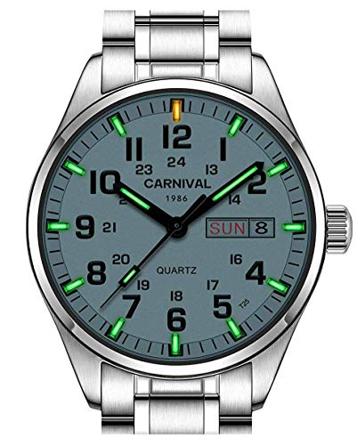 Clearance Tritium Luminous Military Dive Sports Waterproof Quartz Mens Watch - Electro Luminescent Analog