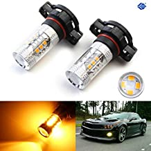 iJDMTOY (2) JDM Gold Yellow 3000K 80W CREE High Power 5202 2504 PSX26W 9009 H16 LED Replacement Bulbs For Fog Lights, Driving Lights