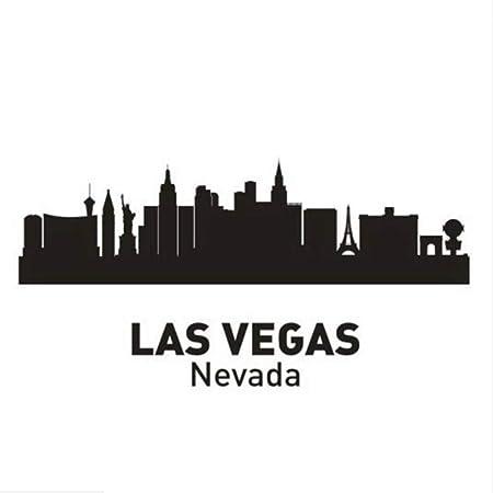 Las Vegas Aufkleber Skyline Collage  11 Farben 2 Größen
