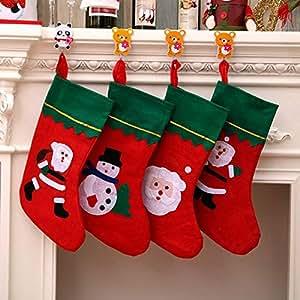 SPFAZJ Etiquetas de Navidad Calcetines Navidad Medias Navidad Decoraciones Grandes Calcetines de Navidad
