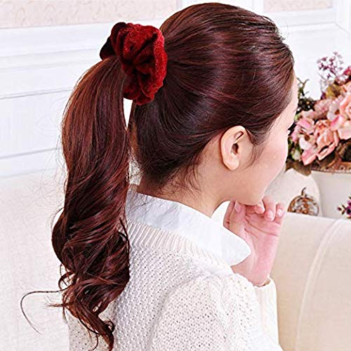 Mandydov 20 Pcs Hair Scrunchies Velvet Elastic Hair Bands Scrunchy Hair Ties Ropes Scrunchie for Women or Girls Hair Accessories - 20 Assorted Colors Scrunchies. by Mandydov (Image #5)