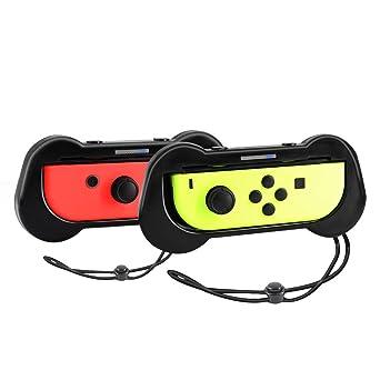 Joy-Con Grips para Nintendo Switch, Yocktec Joy Con Comfort Grip Handle Kit Funda