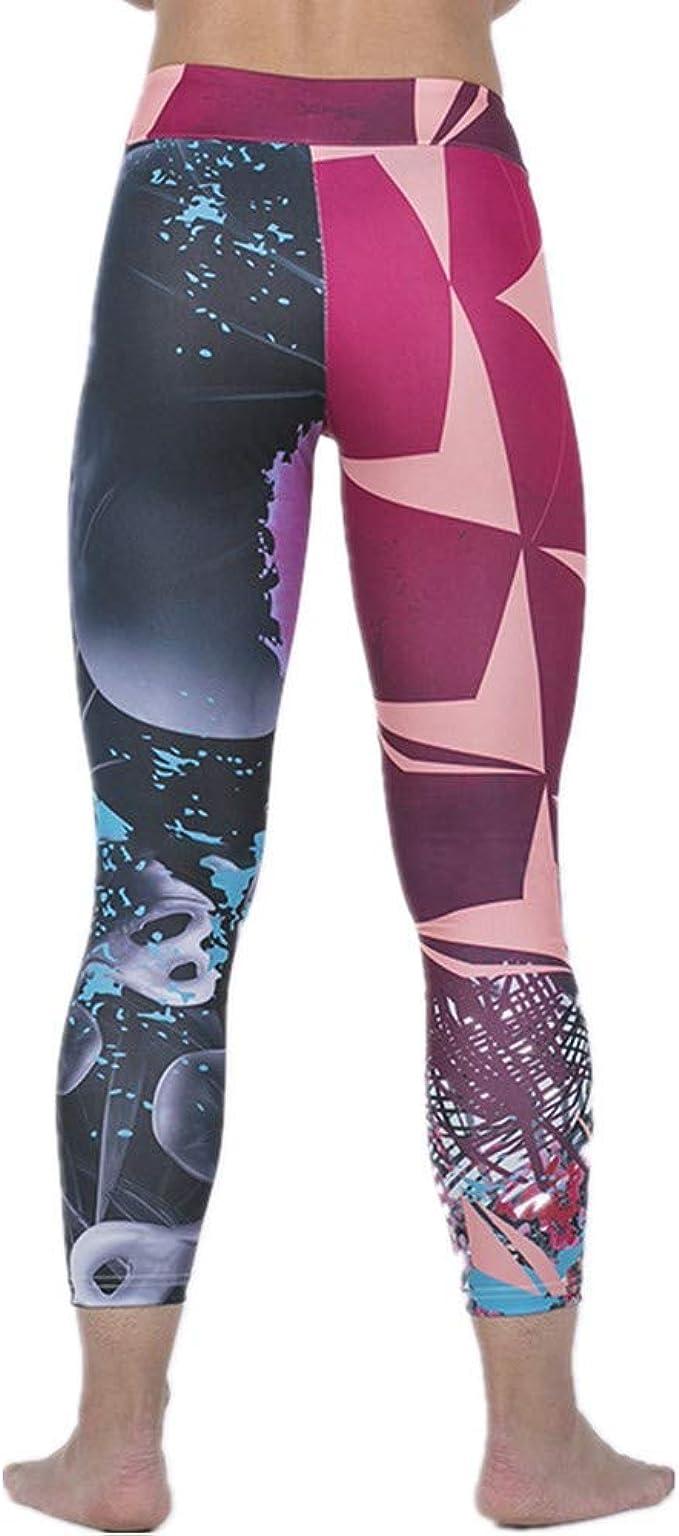 ZHJA 2019 Europa Y Estados Unidos Nueva Impresión Digital Pantalones De Yoga para Mujer Leggings De Cadera: Amazon.es: Ropa y accesorios