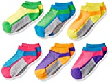 Jefferies Socks Girls' Little Girls' Sport Mesh Upper Low Cut 6 Pair Pack