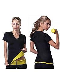 BurNN® Women's Neoprene Body Shaper Sweat Tshirt Slimming Top Weight loss