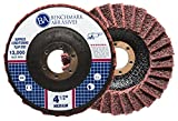5 Pack - 4-1/2'' x 7/8'' Benchmark Abrasives Surface Conditioning Grinding, Sanding, Polishing Flap Discs T27 (Medium)