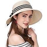 Siggi Floppy Summer Sun Beach Straw Hats for Women Accessories Wide Brim UPF 50 Packable 56-58cm Beige