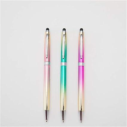Caja de arco iris de 6 piezas: el bolígrafo se puede girar para reemplazar el bolígrafo 14.1 CM * 0.9 CM: Amazon.es: Oficina y papelería