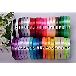 "250 yds (3/8"")10mm Satin Ribbons Belt Gift Packing Wedding Decoration 10 colors X 25yads (PICK YOUR COLORS!)"