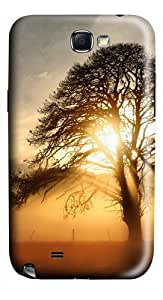 Fog Across The Field PC Hard Case Cover For Samsung Galaxy Note 2/Note II/N7100