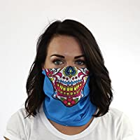 Sugar Mama Seamless UPF 30 High Performance Moisture Wicking Bandana Made of 100% Polyester Microfiber by Hoo-rag®