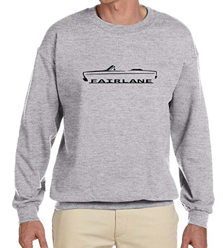 1966 1967 Ford Fairlane Convertible Classic Outline Design Sweatshirt 3XL -