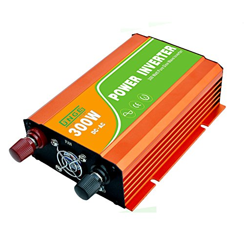 JNGE POWER 300W DC to AC Pure Sine Wave Solar Power Inverter with 5V USB and 120V AC output outlets (12V) by JNGE (Image #4)
