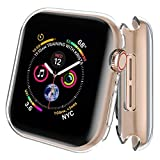 AdMaster 5647399000 Screen Protector for Apple Watch Series 4 40mm, Full Around Protective Clear Case Ultra-Thin Clear TPU Cover for iWatch Series 4 (2 Pack)