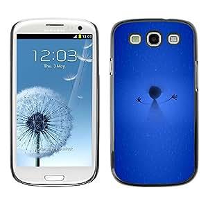 TopCaseStore / la caja del caucho duro de la cubierta de protección de la piel - Scarecrow Winter Snow Stick Figure - Samsung Galaxy S3 I9300