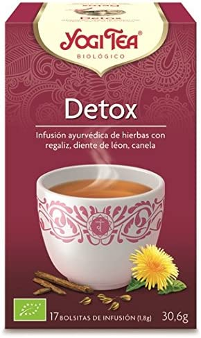 Yogi Tea Infusión Aryuvedica Détox con 17 bolsitas, 30.6 gr