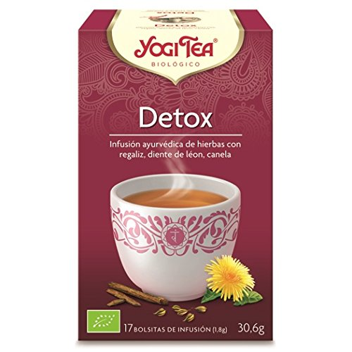 Yogi 2242 - Tea Infusion Aryuvedica Detox con 17 bolsitas, 30