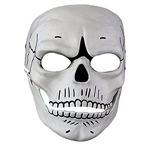 James Bond Costume Party (Atcose Cosplay Movie 007 JAMES BOND Spectre Mask Scary Skull Skeleton Full Face Mask Halloween Carnival Costume Masquerade Ghost Party Resin Masks)