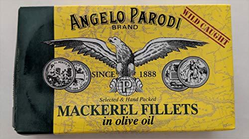 Angelo Parodi - Mackerel Fillets in Olive Oil - 4.4oz (10-pack) (Angelo Parodi Sardine Portoghesi All Olio Di Olivo)