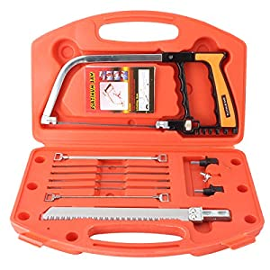 Magic Handsaws Set, Pathonor HSS 12-Inch DIY Magic Saw with 5 Saw Blades for Glass,Tile, Wood, Metal, Plastic