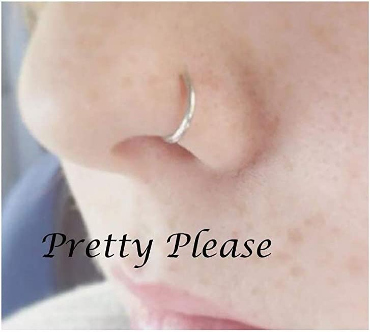 Fake Nose Ring No Peircing Required 0 7mm Simple Nose Hoop Nose