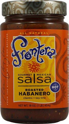 Frontera Gourmet Mexican Salsa Hot Roasted Habanero -- 16 oz - 2 pc ()
