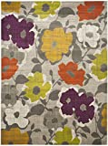 Safavieh Porcello Collection PRL7726C Grey and Yellow Area Rug (8'2″ x 11′)