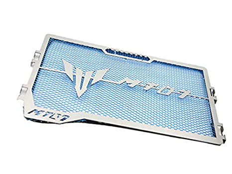RONSHIN Protector de la Parrilla del radiador de la Motocicleta de Acero Inoxidable para Yamaha MT-07 MT07 14-18 Azul Repuesto de Auto motocilceta