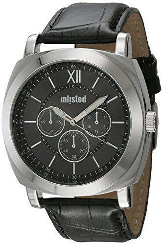 UNLISTED WATCHES Men's 'Sport' Quartz Metal Dress Watch, Color:Black (Model: 10031957)