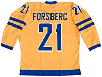 Peter Forsberg Team Sweden Yellow Hockey Jersey