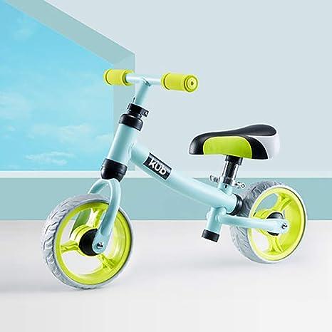 Equilibrio para niños, bicicleta sin pedales Equilibrio para andar en bicicleta Bicicletas de entrenamiento, asiento ajustable 95% ensamblado, para niños y niños pequeños de 18 meses a 3 años,Green: Amazon.es: Deportes y