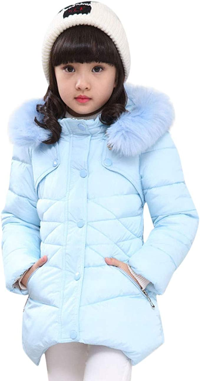 KONFA Teen Toddler Baby Boys Girls Winter Warm Outerwear Clothes,Thick Cotton Ears Hooded Jacket Snowsuit Coat