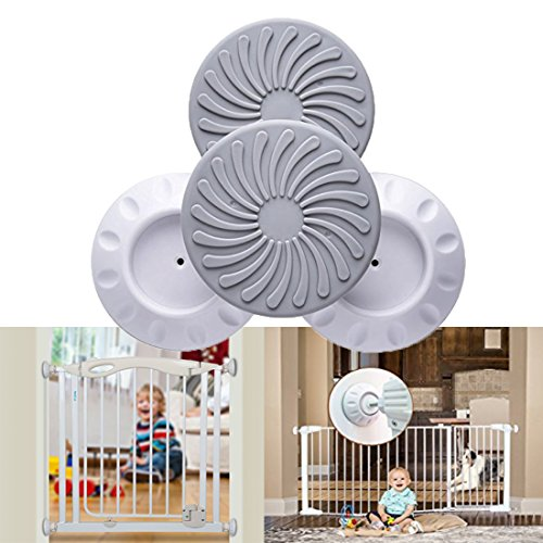 Wall Guard for Pressure Gate, Baby Safety Wall Guard Protector for Baby Gates, Protect Door, Stair, Wall Surface, Babies & Pets Safety 4 Pcs